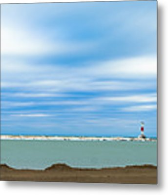 Wisconsin Winter Lakefront Metal Print by Steven Santamour