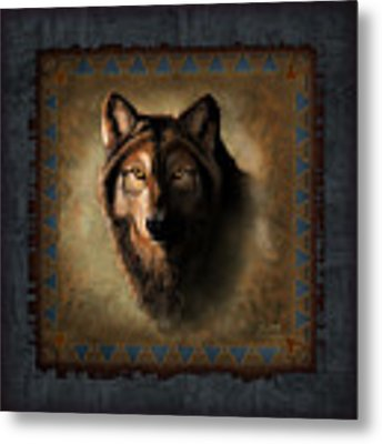Wolf Lodge Metal Print