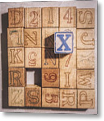 X Blocks Metal Print by Scott Norris
