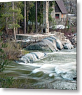 Yuba River At Rainbow Lodge Metal Print by William Havle