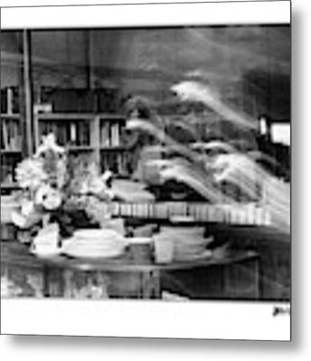 Man At Book Store Metal Print by Patricia Youngquist
