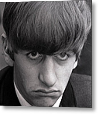 Portrait Of Ringo Starr, Drummer With Metal Print by Popperfoto