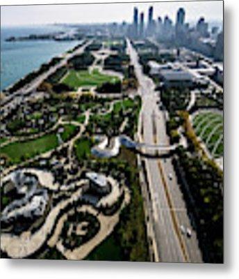 30th Floor View Of Chicago Parks Metal Print by Sven Brogren