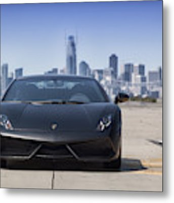 #lamborghini #gallardo Lp570-4 #superleggera #edizione #technica #print Metal Print by ItzKirb Photography