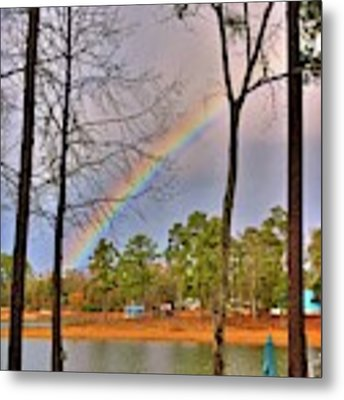 A Pot Of Gold On Lake Murray South Carolina Metal Print by Lisa Wooten