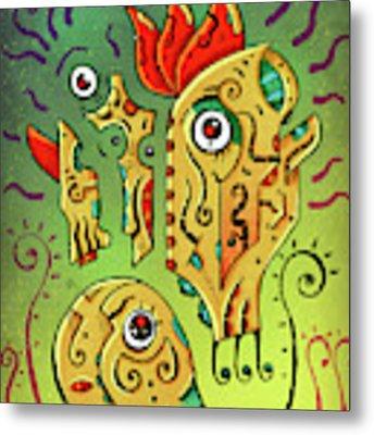 Ancient Spirit Metal Print by Sotuland Art