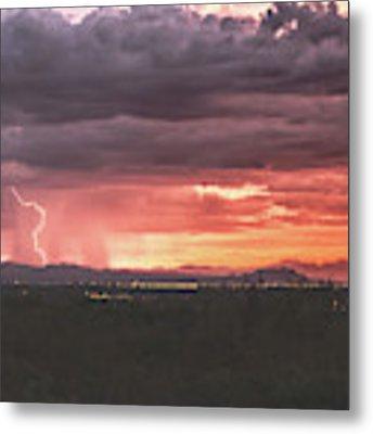 Arizona Sunset Lightning  Metal Print by Chance Kafka