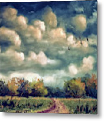 As August Slips Into Autumn Metal Print by Lois Bryan
