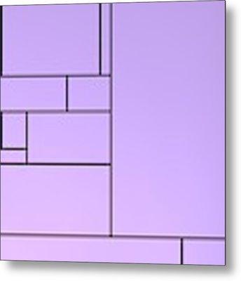 Backlight With Violet Composition Metal Print by Alberto RuiZ