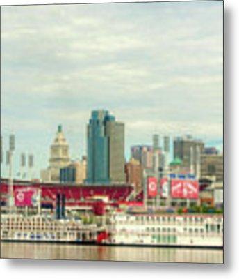 Baseball And Boats In Cincinnati # 2 Metal Print by Mel Steinhauer