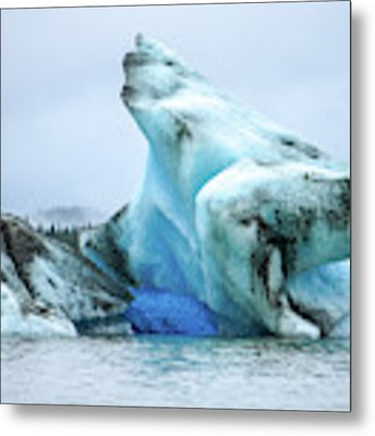 Blue Ice, Mendenhall Glacier Metal Print by Dawn Richards