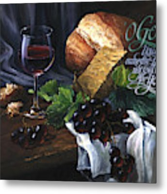 Bread And Wine Metal Print by Clint Hansen