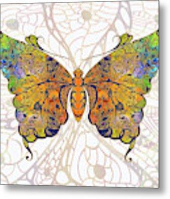 Butterfly Zen Meditation Abstract Digital Mixed Media Artwork By Omaste Witkowski Metal Print by Omaste Witkowski