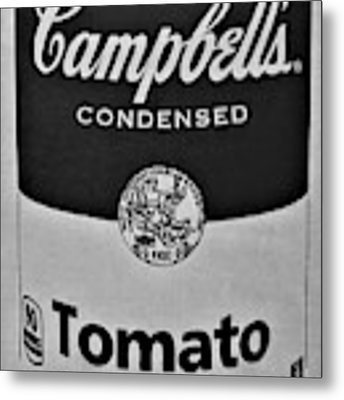 Campbell's Soup In Black And White Metal Print by Rob Hans