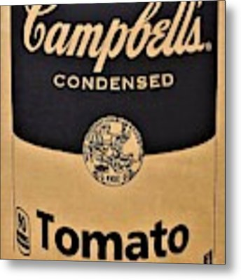 Campbell's Soup On Cardboard Metal Print by Rob Hans