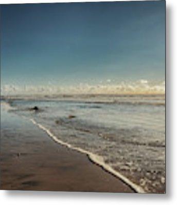 Carlsbad Low Tide Metal Print by Alison Frank