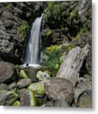 Coastal Falls Metal Print by Margaret Pitcher