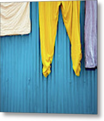 Colorful Laundry Metal Print by Nicole Young