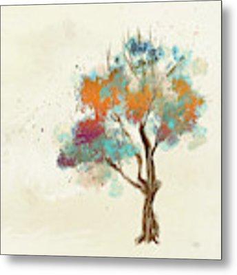 Colorful Tree Metal Print by Lois Bryan