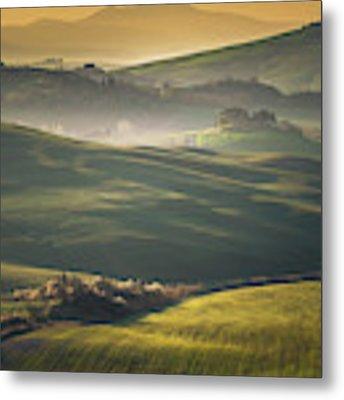 Crete Senesi Landscape In Tuscany Metal Print by Helga Koehrer-Wagner