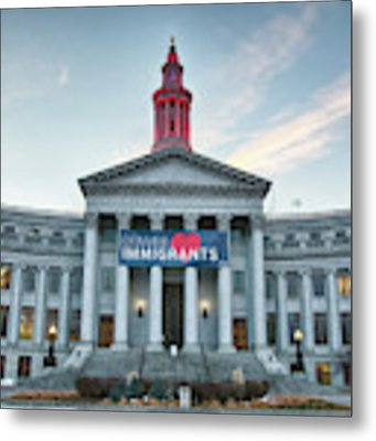 Denver Loves Immigrants Metal Print by Philip Rodgers