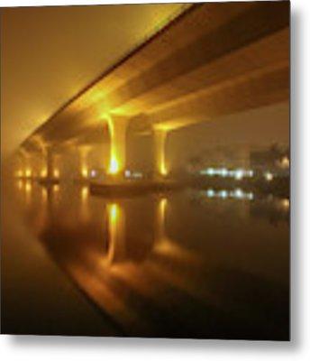 Disappearing Bridge Metal Print by Tom Claud