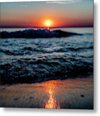 Double Waves At Sun Rise Metal Print by Sven Brogren