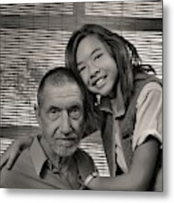 Father And Daughter Metal Print by Ron Cline