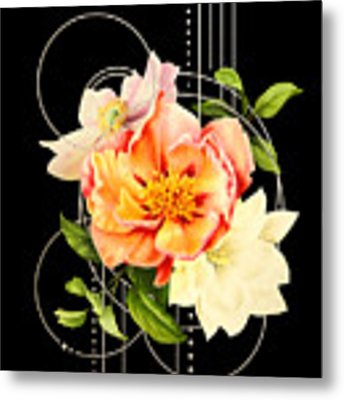 Floral Abstraction Metal Print by Bee-Bee Deigner