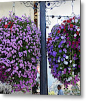 Flowers In Balance Metal Print by Mae Wertz