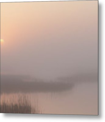 Foggy Sunrise At Cheyenne Bottoms -01 Metal Print by Rob Graham