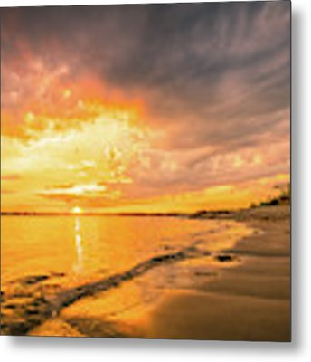 Fort Foster Sunset Watchers Club Metal Print by Jeff Sinon