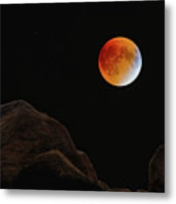 Full Blood Moon, Lunar Eclipse 1 Metal Print by Michael Hubley