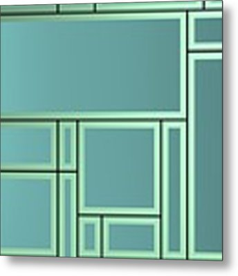 Geometric Composition With Lines, Geometric Shapes And Bright Backligt. Metal Print by Alberto RuiZ