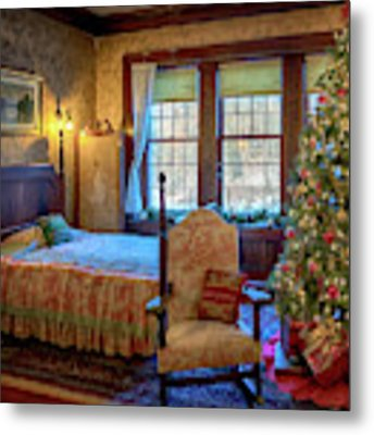 Glensheen Chester's Bedroom Metal Print by Susan Rissi Tregoning