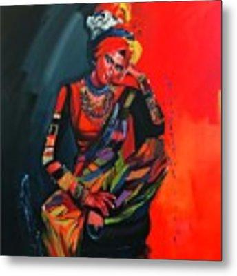 Goddess Of Colors Metal Print by Nizar MacNojia
