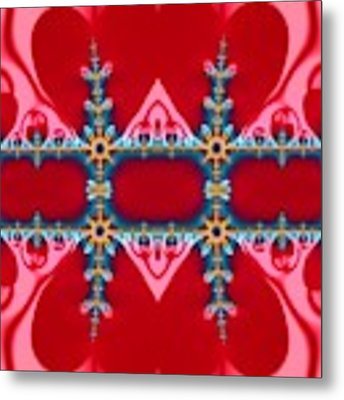Gods Love And Mercy Is Infinite Fractal Abstract Hearts Metal Print by Rose Santuci-Sofranko