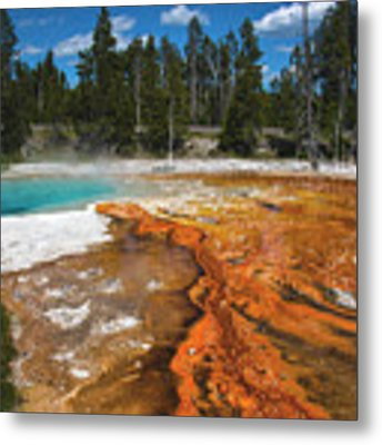 Grand Prismatic Spring Metal Print by Mae Wertz