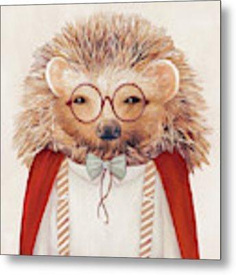 Harry Hedgehog Metal Print by Animal Crew