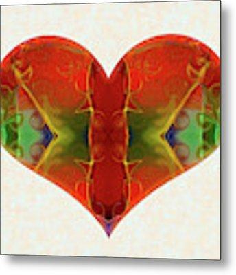 Heart Painting - Vibrant Dreams - Omaste Witkowski Metal Print by Omaste Witkowski