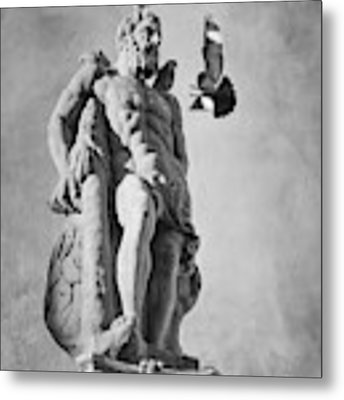 Hercules And The Bird With Extended Claws Metal Print by Mary Lee Dereske