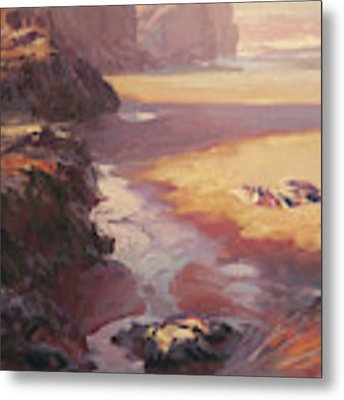 Hidden Path To The Sea Metal Print by Steve Henderson