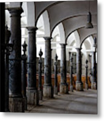 Horse Stalls Of The Royal Stables In Copenhagen Denmark Metal Print by William Dickman