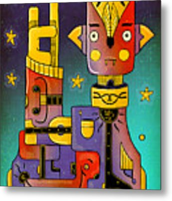 I Come In Peace - Heavy Metal Metal Print by Sotuland Art