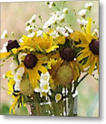 Impressionist Wildflower Arrangement Metal Print by Shelli Fitzpatrick
