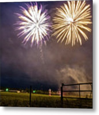 July 4 In Rural America  Metal Print by Mary Lee Dereske