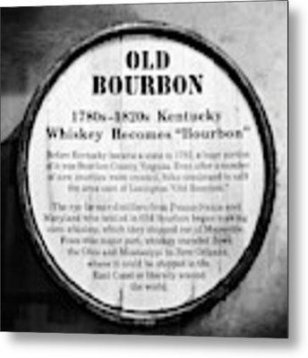 Kentucky Bourbon History Metal Print by Mel Steinhauer