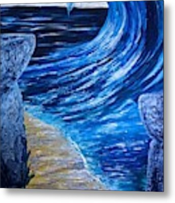 Latte Stones And Wave Metal Print by Michelle Pier