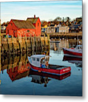 Lobster Traps, Lobster Boats, And Motif #1 Metal Print by Jeff Sinon