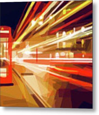 London Phone Box Metal Print by ISAW Company